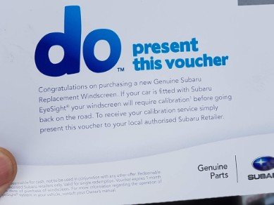 Subaru Genuine ADAS Calibration Voucher