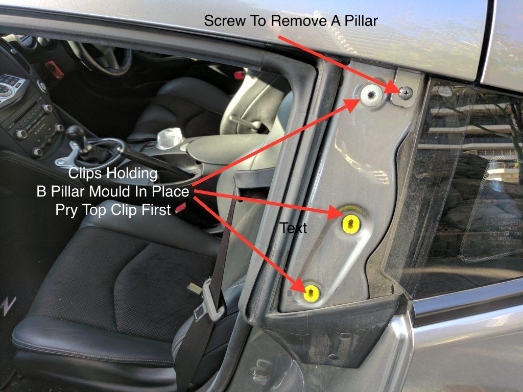 Nissan 370z B Pillar Removal
